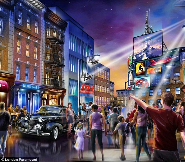 Concept art for the Paramount/BBC theme park, London Paramount Entertainment Resort