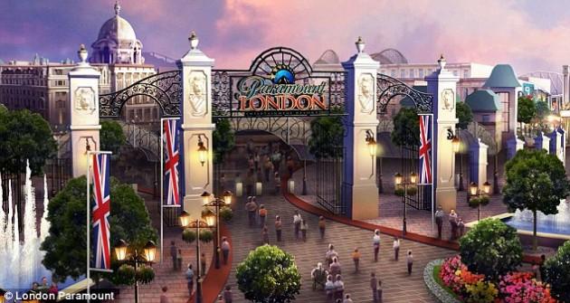Concept art for the Paramount/BBC theme park
