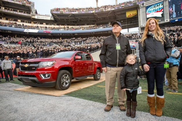 Military Family Receives New Colorado at 2014 Army-Navy Game