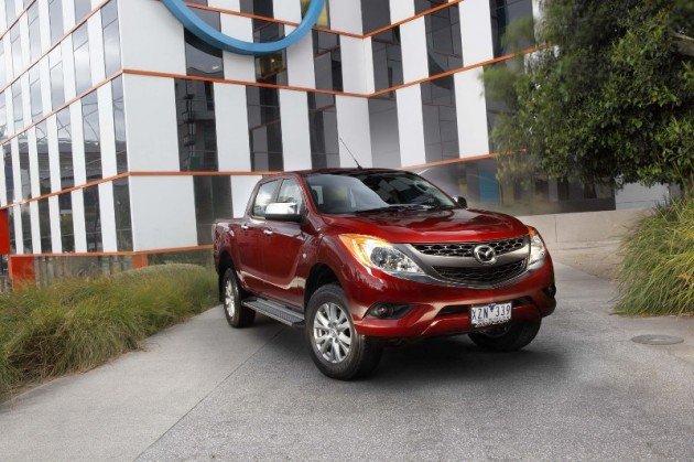 New Mazda BT-50 2010 Red exterior 2
