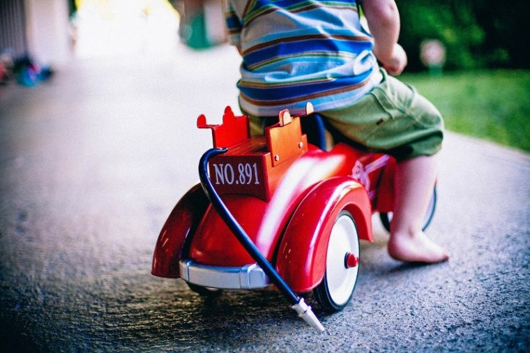 Rideable Toy Cars for Children with Disabilities boy red