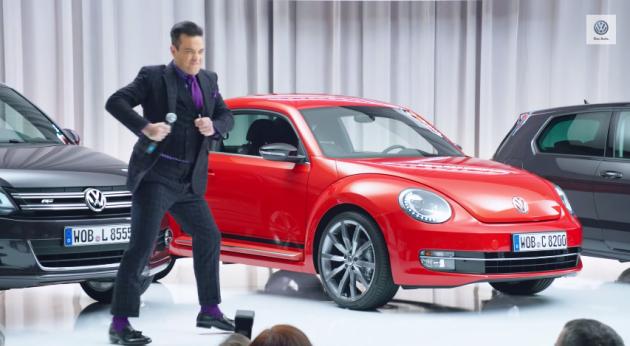 British Pop Star Robbie Williams is New Volkswagen Marketing Manager