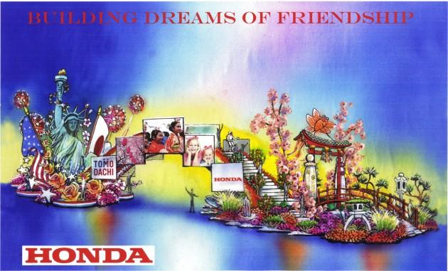 Honda's 2015 Rose Parade float, Building Dreams of Friendship