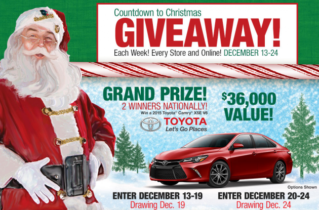 Win a Toyota Camry