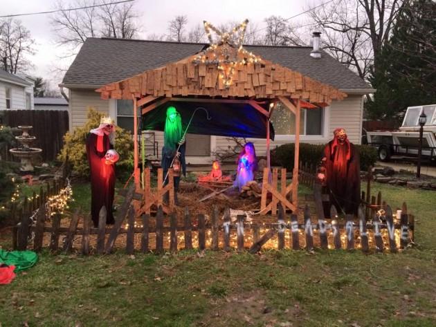 zombie nativity scene