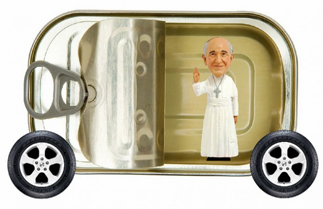 The Vatican is raffling off one of Pope Francis' famously compact Popemobile