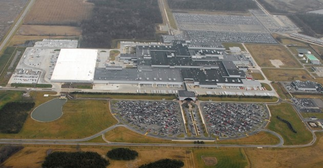 Aerial view of the facility in East Liberty, Ohio, one of two Ohio Honda manufacturing plants that received EPA ENERGY STAR certification