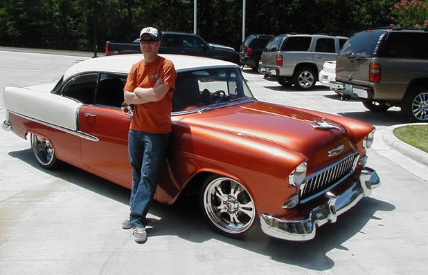 the bidding for Junior's 1955 Chevy Bel Air and 1999 Corvette ended this morning