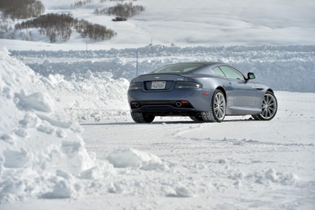 Aston Martin DB9 On Ice