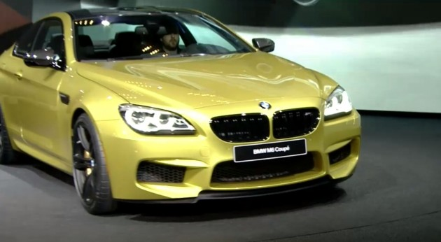 BMW debut Detroit M6 and 6-Series Unveiled yellow
