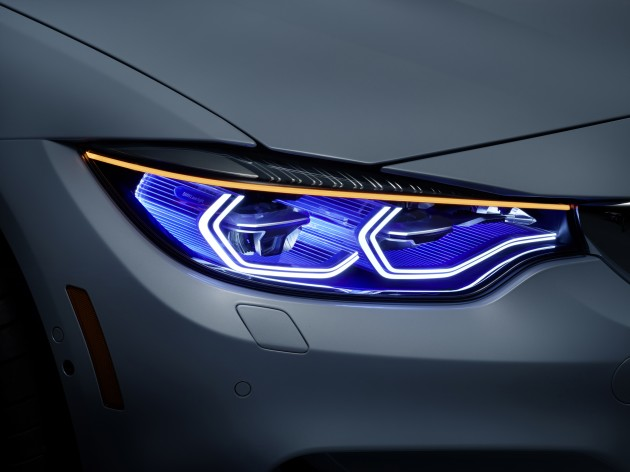 BMW's Latest Technology at CES OLED organic lights headlight