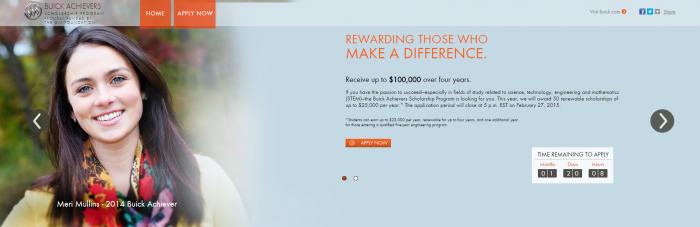 Buick Achievers Scholarship >> Buick Achievers Scholarship Program Open For 2015