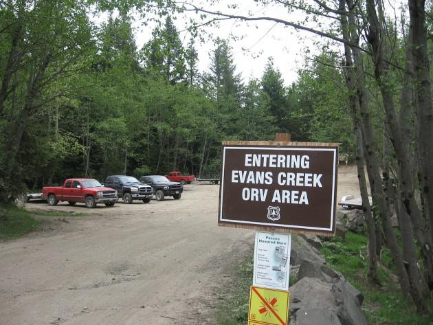 Off-Road parks in Washington evans creek