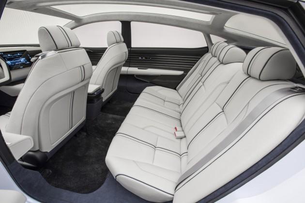 The Honda FCV Concept's  sleek interior