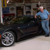 Jay Leno and Chevrolet Product Specialist Shad Balch admire the 2015 Corvette Z06