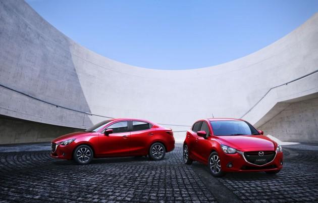 Red 2016 Mazda2