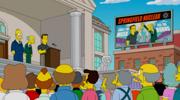 Elon Musk on The Simpsons:Tesla CEO joins forces with Mr. Burns