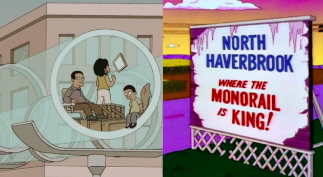 Elon Musk on The Simpsons: Tesla CEO's Hyperloop kills the economy, just like Lyle Lanley's monorail did two decades ago
