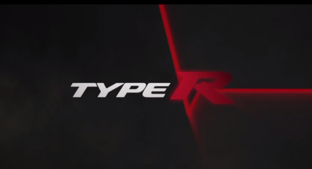A still from the new teaser video for the 2015 Honda Civic Type R production model