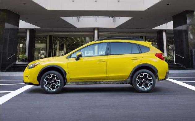 The 2015 Subaru XV Crosstrek Special Edition features this exclusive Sunrise Yellow exterior color