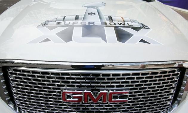 A GMC Yukon Denali promotes Super Bowl XLIX