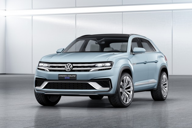 The new VW Cross Coupe GTE concept that debuted this morning in Detroit