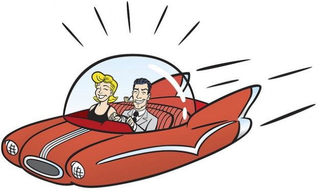 flying car cartoon