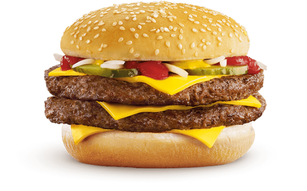 A McDonald's double quarter pounder with cheese