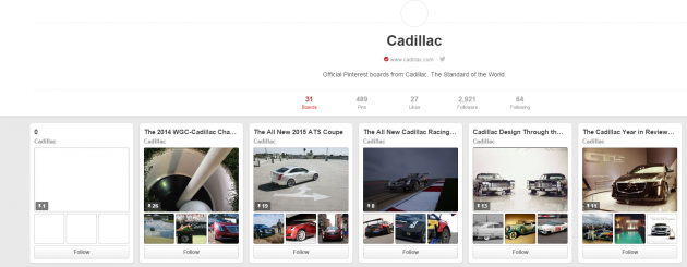 Cadillac Pinterest