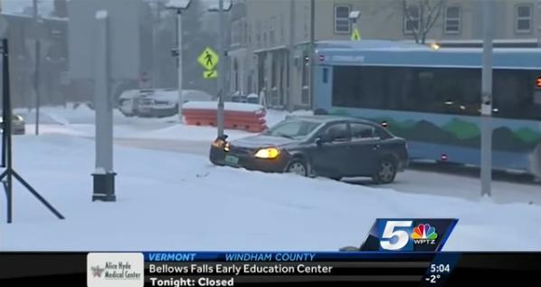 Car Crash during news report