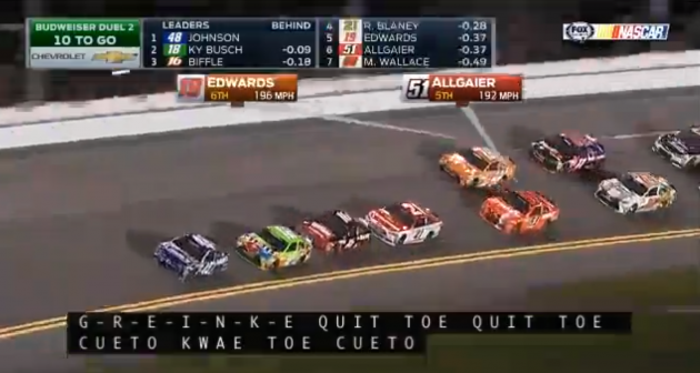 NASCAR closed captioning malfunctions, names MLB players, including Reds pitcher Johnny Cueto