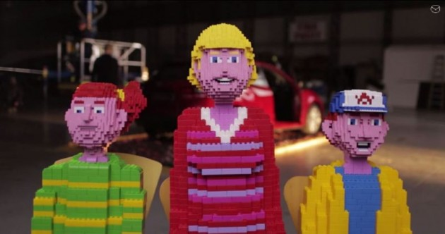 Mazda Mega Bloks commercial 2 Does This Building Blocks Family Fall Apart over the 2015 Mazda CX-5