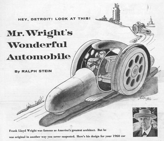 Frank Lloyd Wright penis car