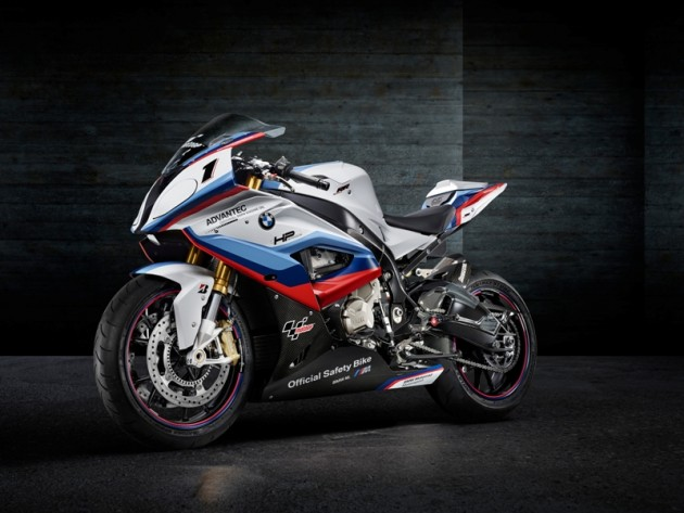 black BMW M4 MotoGP Safety Coupe motorcycle