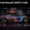 black BMW M4 MotoGP Safety Coupé schematics diagram