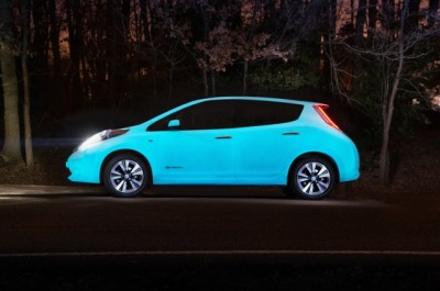 Glow in the dark Nissan LEAF
