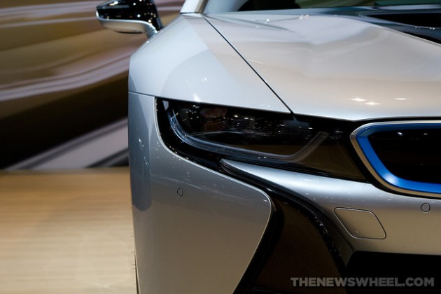 2014 BMW i8 at North American International Auto Show Detroit Headlights
