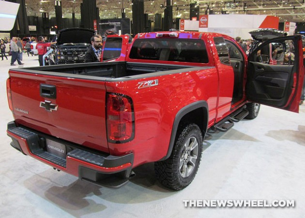 2015 Chevy Colorado Z71 Trail Boss Edition at Cleveland Auto Show rear exterior
