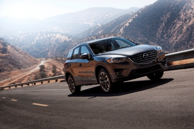 2016 Mazda CX-5 driving on mountain road
