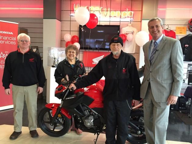 Honda Financial Service Presents Loyal Owner With 55th Honda Mot