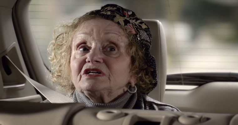 Actress Playing the Awkward Grandma in BMW's X5 Commercial Sondra James