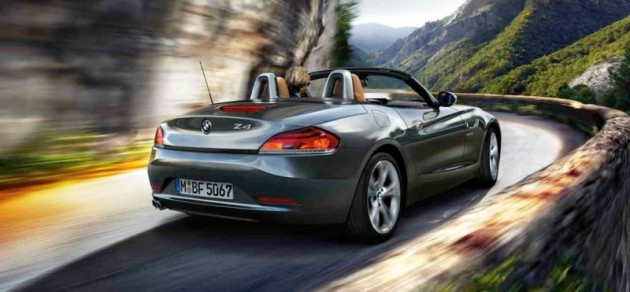 BMW z4 roadster hardtop coupe rear