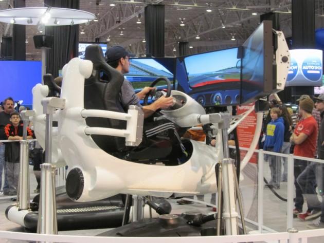 2015 Cleveland Auto Show virtual driving motion simulator