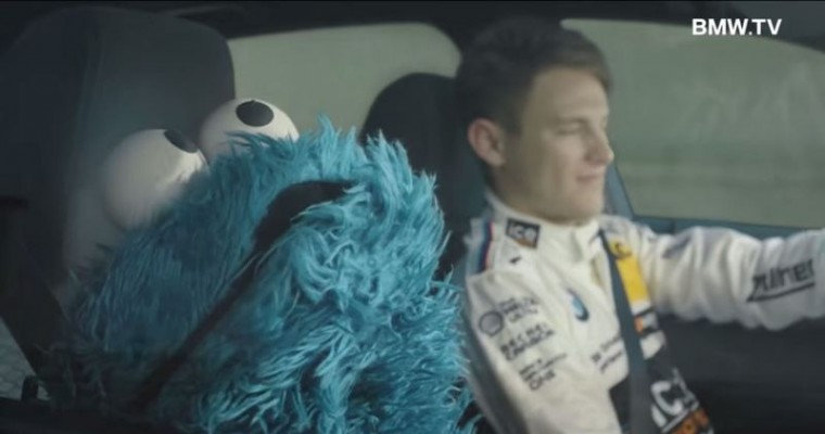 Cookie Monster Drives BMW 1 Series commercial drive experience