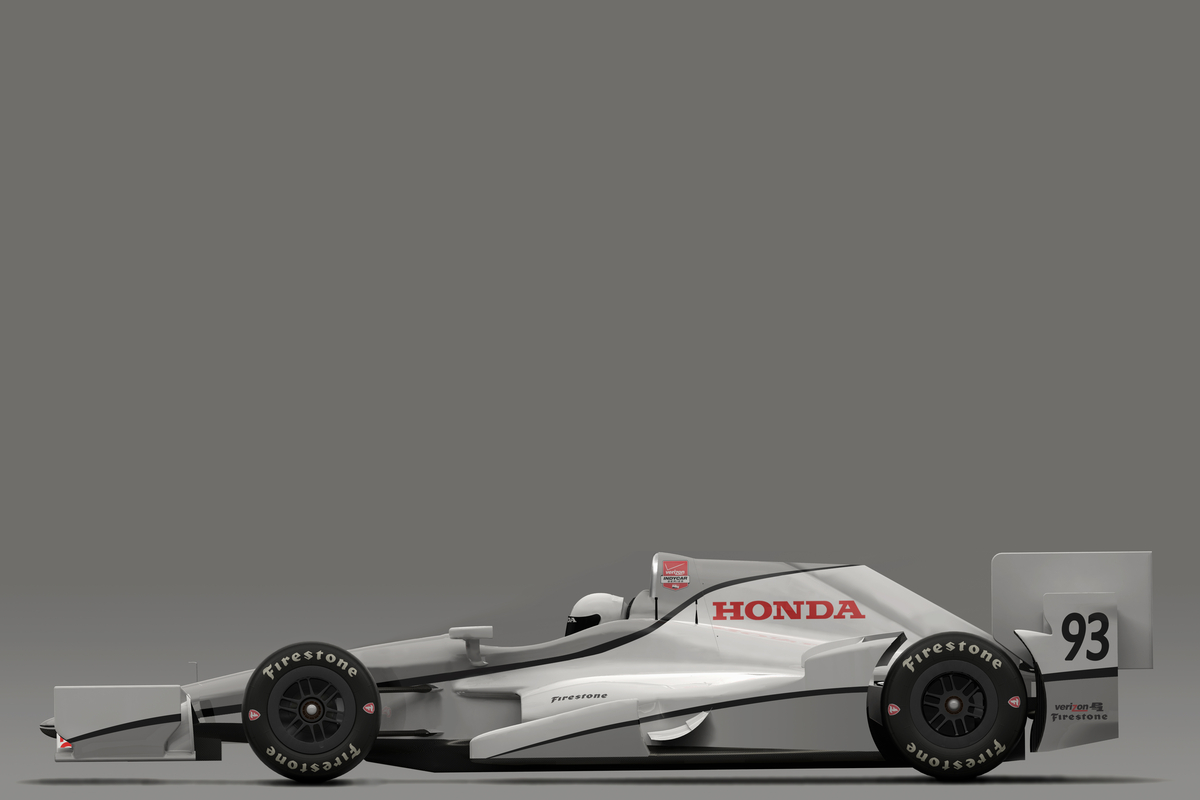 Profile view of Honda aero kit.