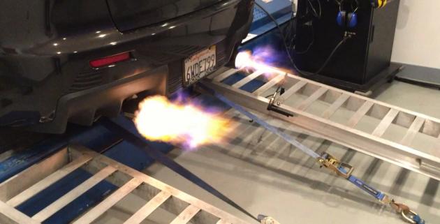 Lancer Evolution flames