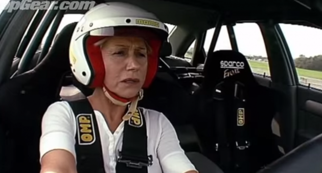 Helen Mirren in runs a 1.52.8  lap on Top Gear