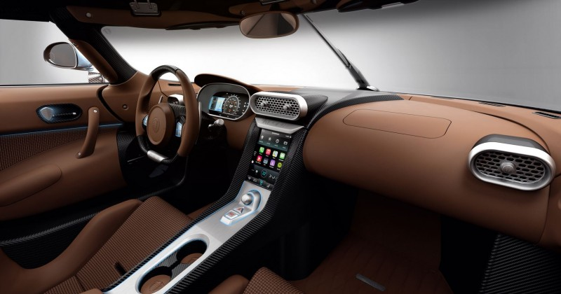 Koenigsegg Regera supercar brown interior