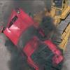 Lamborghini Miura from The Italian Job opening sequence crash