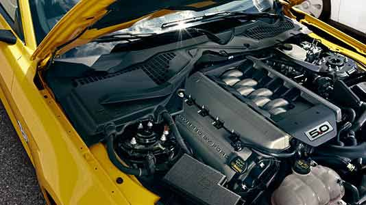 "2015 Ford Mustang GT's 5.0-liter ""Coyote"" V8"